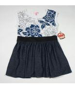 MACYS SUGAR TART GIRLS SIZE XL 16 NWT TOP SHIRT SHIMMERY BLUE FLOWERS  NEW - $18.50