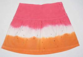 GAP KIDS GIRLS SIZE 8 SKIRT NWT TIE DIP DYE SKIRT PINK ORANGE WHITE RHIN... - $16.82