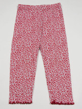 GYMBOREE GIRLS SIZE 2T LEGGINGS WHALE WATCHING RED FLORAL DAISY FLOWERS - $8.41