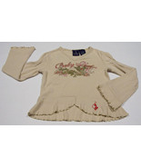 BABY PHAT GIRLS SIZE 4 TOP SHIMMERY DRAGON SHIRT RUFFLES - $10.09