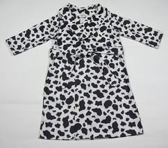 TALBOTS KIDS GIRLS SIZE 4 ROBE SOFT SPOTTED PONY COW BATHROBE SLEEPWEAR ... - $10.09