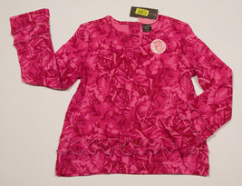 NWT COPPER KEY GIRLS SIZE 6 SHIRT PINK SCENTED ROSES TOP FLOWERS  RUFFLE... - $12.61