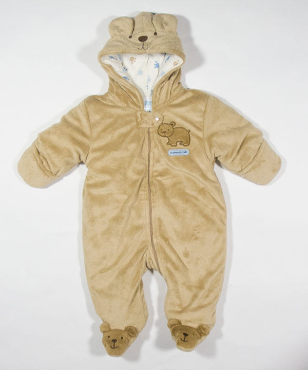 d23ef35c4 CARTERS CHILD OF MINE 3M 6M BUNTING MOMMYS BEAR CUB WARM PRAM SNOWSUIT  HOODED