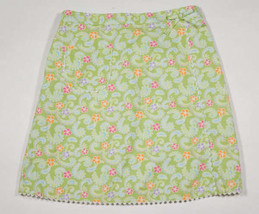 GYMBOREE GIRLS SIZE 9 SKIRT NEW PALM SPRINGS GREEN FLORAL PAISLEY 100% C... - $16.82