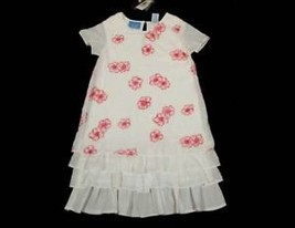 JANE SEYMOUR GIRLS SIZE 5 DRESS NWT BOUTIQUE PINK FLORAL RUFFLES FLOWERS... - $25.24