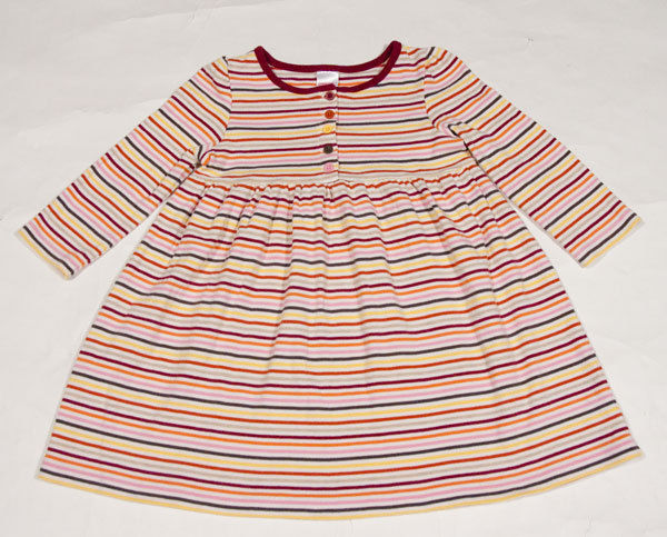 Primary image for GYMBOREE GIRLS SIZE 3 DRESS PERFECT PURRFECT AUTUMN COLORFUL STRIPED STRIPES