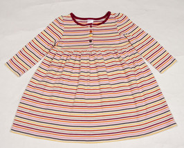GYMBOREE GIRLS SIZE 3 DRESS PERFECT PURRFECT AUTUMN COLORFUL STRIPED STR... - $9.25