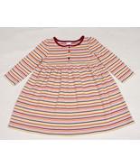 GYMBOREE GIRLS SIZE 3 DRESS PERFECT PURRFECT AUTUMN COLORFUL STRIPED STR... - $9.25
