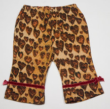 The Childrens Place  Baby Girls 3 M 6 M Pants New Leopard Hearts Print Tcp 3 6 M - $7.56