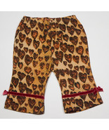 THE CHILDRENS PLACE  BABY GIRLS 3M 6M PANTS NEW LEOPARD HEARTS PRINT TCP... - $7.56