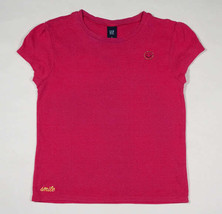 Gap Kids Girls Size Large L 10 Top Pink Smile Smiley Face Shirt - $8.41