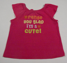 GYMBOREE GIRLS SIZE 4T TOP CITRUS COOLER PINK FRUITY ORANGE YOU GLAD CUT... - $15.98