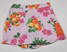 BABY GAP GIRLS SIZE 12-18M SKORT PINK TROPICAL FLOWERS ORANGES PINEAPPLE... - $9.25
