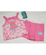 DISNEY FINDING NEMO GIRLS 12M NWT TOP & SHORTS SET PINK PEARL THE OCTOPU... - $15.98