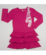 J KHAKI GIRLS SIZE 6 DRESS PINK RUFFLES BALLERINA BALLET SLIPPERS TIERED - $14.30