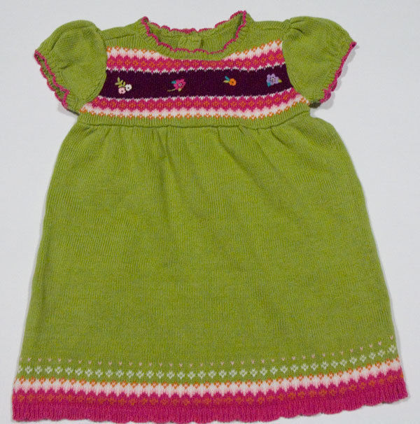 Primary image for GYMBOREE GIRLS 12-18M SWEATER DRESS HAPPY HEDGEHOG GREEN PINK FAIR ISLE 12M 18M