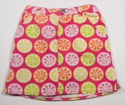 GYMBOREE GIRLS SIZE 6 SKORT CITRUS COOLER PINK FRUITY FRUIT SLICES SPRIN... - $15.98