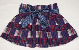 LIMITED TOO GIRLS SIZE 14 NWT SKORT RED BLUE PLAID POLKA DOTS NEW - $16.82
