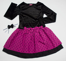 WHAT A DOLL GIRLS 10 12 DRESS DROP WAIST POLKA DOTS  SPECIAL OCCASION PO... - $18.50