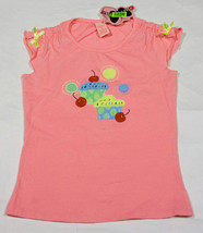 COPPER KEY GIRLS 10 NWT SWEET CUPCAKES SHIRT PINK TOP CHERRIES CELEBRATI... - $12.61