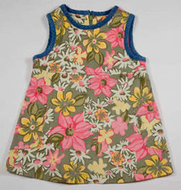 THE CHILDRENS PLACE GIRLS 18M DRESS TCP PINK & YELLOW FLOWERS FLORAL SHI... - $10.09