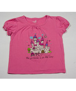 HEALTHTEX GIRLS SIZE 5 SHIRT PINK PRINCESS ON THE WAY CARRIAGE CASTLE TO... - $8.41