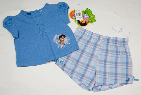 Dora The Expolorer Little Girls Denim Blue Dora Patch Jeans