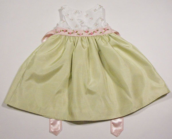 PERFECTLY DRESSED GIRLS 18M DRESS PINK GREEN ROSES SPECIAL OCCASION EASTER