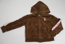 Gymboree Girls 5 Hoodie Jacket Teachers Pet Siamese Kitty Cat Brown Velour - $12.61