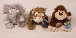 WEBKINZ NWT ELEPHANT CHEEKY MONKEY TIGER JUNGLE LOT 3  NEW  SEALED CODE ... - $17.66