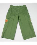 GYMBOREE GIRLS 8  CARGO CROPPED CAPRI PANTS SAVANNA SUNSET OLIVE GREEN F... - $15.98