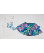 THE CHILDRENS PLACE GIRLS 12-18M OUTFIT BUTTERFLIES PLAID TOP SKORT 12M ... - $10.93