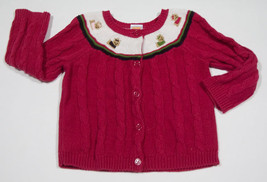 Gymboree Girls Size 18 M 24 M Pink Sweater Pups & Kisses Yorkie Puppy Dogs 18 24 M - $12.61