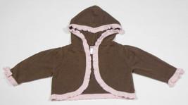 Gymboree Girls 12 M 18 M Shrug Sweeter Than Chocolate Sweater Hooded Brown Pink - $10.09