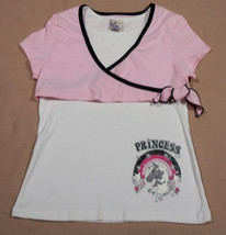 CALIFORNIA CONCEPTS GIRLS SIZE XL 14  TOP PINK PRINCESS UNICORN SHIMMERY - $8.41