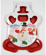 CREATE  N CELEBRATE SNOWMAN  PULL APART CUPCAKE MOLD SILICONE BAKEWARE  NEW - $12.61