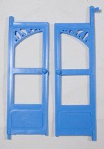 Fisher Price Loving Family Dream Dollhouse Blue Replacement Doors Blue Roof Hous - $8.41