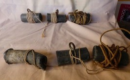 6 Vintage Hand Made Lead Weights for Decoys with Rope - $36.00