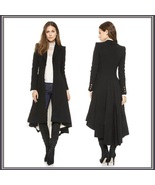 Late Medieval Victorian Gothic Lined Dovetail Buttons at Cuff Long Coat ... - $158.95