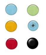 Mix Color Brad Glass-Digital clipart-Halloween-... - $3.00