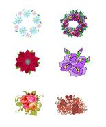 Mix Flowers and Wreath2-Digital clipart-Hallowe... - $3.00