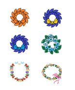 Mix Flowers and Wreath4-Digital clipart-Hallowe... - $3.00
