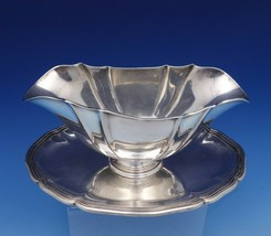 Danish Sterling Silver Gravy Boat with Attached Underplate Circa 1930 (#... - $728.10