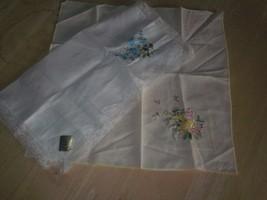Vintage 2 Ladies Handkerchiefs 1 Treasure Matters, Switzerland & another... - $5.14