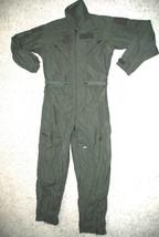 US AIR FORCE NOMEX FIRE RESISTANT FLIGHT SUIT CWU-27/P KHAKI - 42L - $74.25
