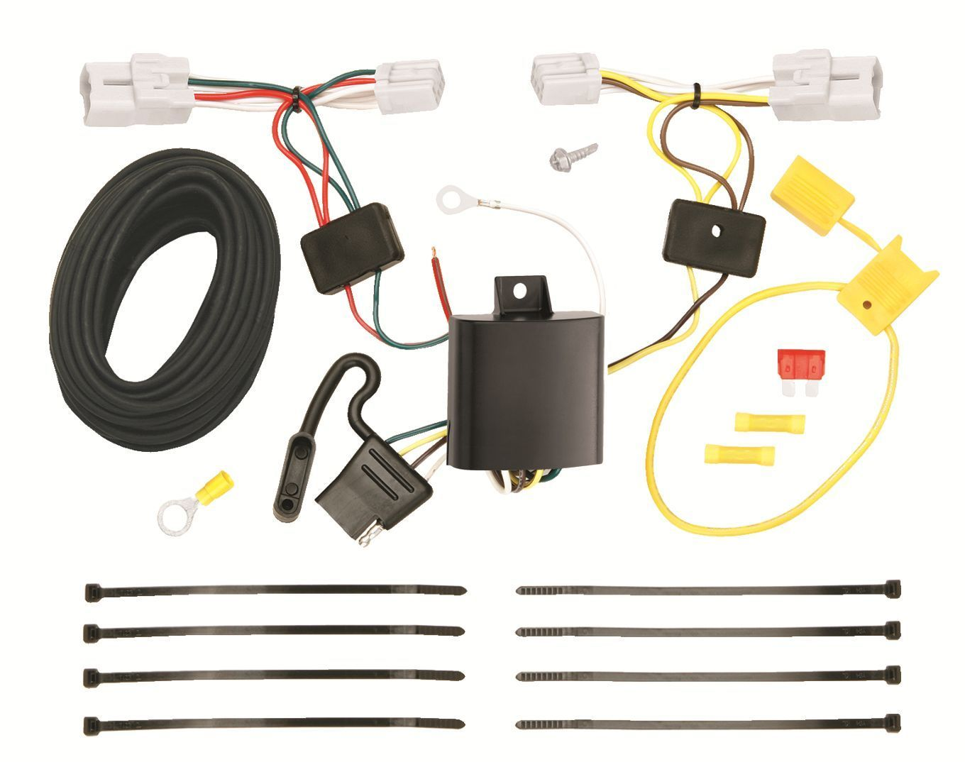 TRAILER HITCH WIRING KIT FITS 2012 HYUNDAI ACCENT HARNESS PLUG PLAY DIRECT T-ONE