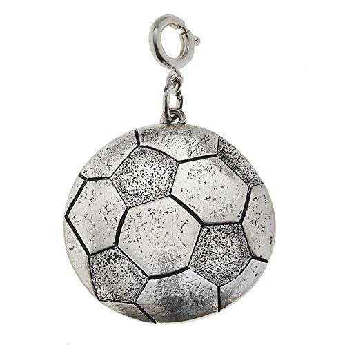 Jane Marie Silver Tone Soccer Ball Charm [Jewelry]