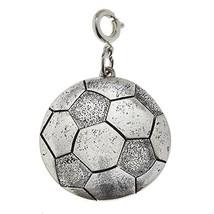 Jane Marie Silver Tone Soccer Ball Charm [Jewelry]