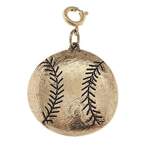 Jane Marie Gold Tone Softball or Baseball Ball Charm [Jewelry]