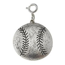 Jane Marie Silver Tone Softball or Baseball Charm [Jewelry]